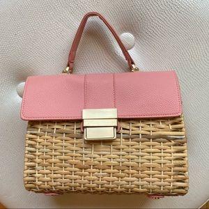 Zara wicker purse